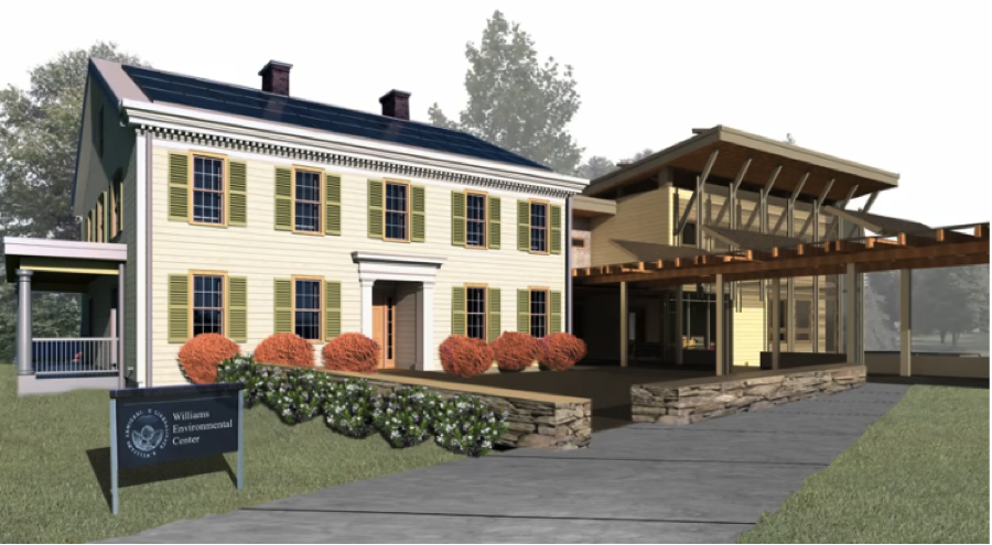 Rendering of the new environmental center
