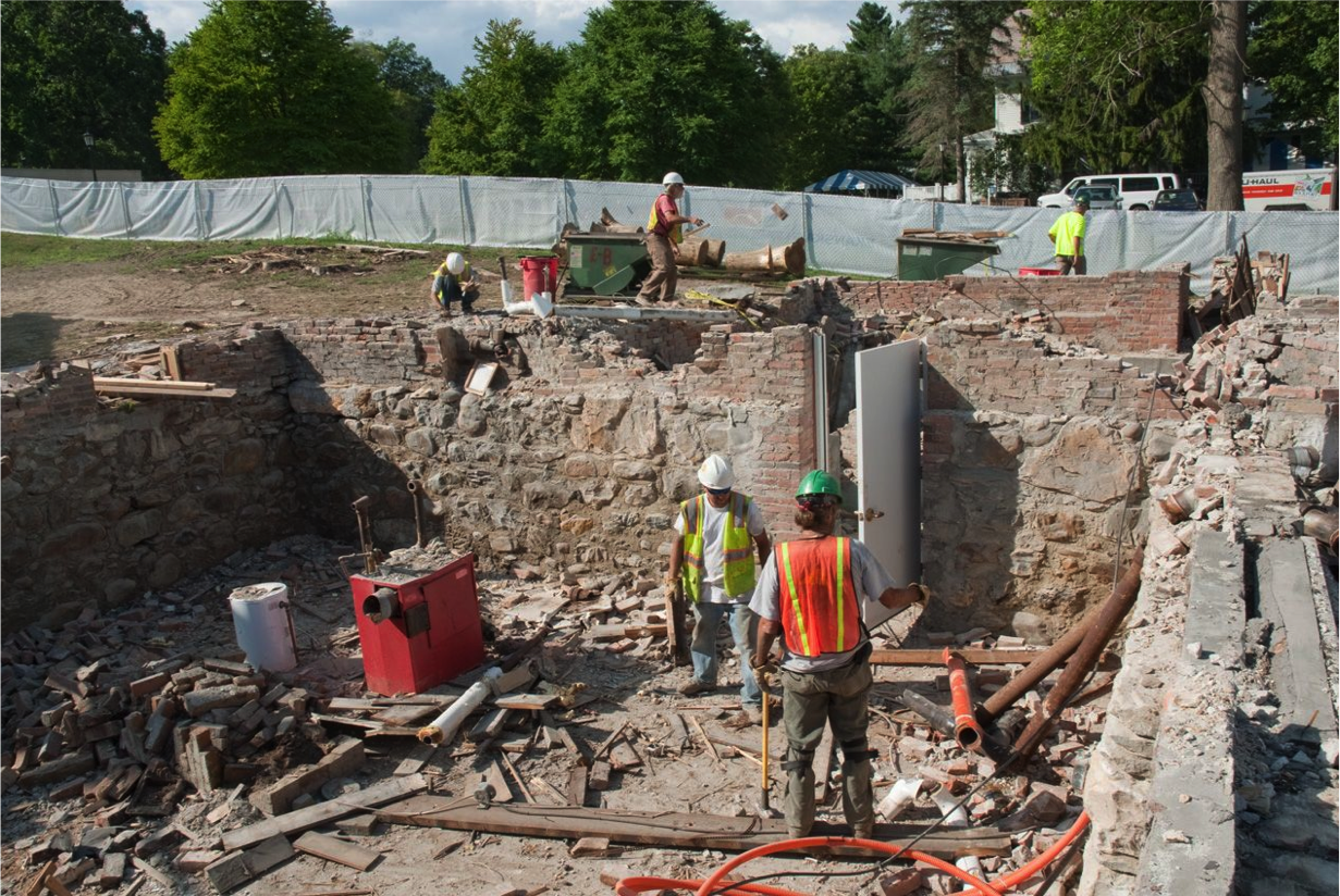 Seeley House basement--generations of masonry